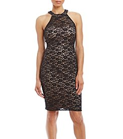 Morgan & Co.® Lace Cross Back Dress
