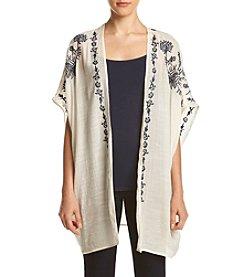 Skylar & Jade™ Short Sleeve Embroidered Gauze Kimono