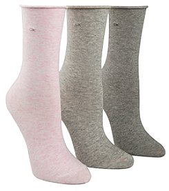 Calvin Klein 3-Pk. Roll Top Crew Socks
