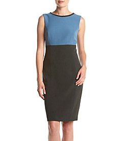 Kasper® Stretch Crepe Color Block Dress