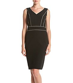 Kasper® Stretch Crepe V-Neck Dress