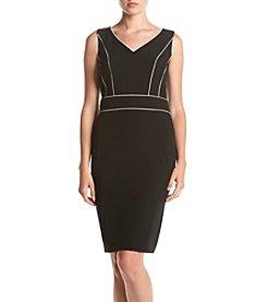 Kasper® Stretch Crepe V-Neck Dress