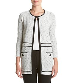 Kasper® Textured Knit Cardigan