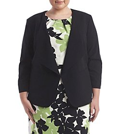 Nine West® Plus Size Solid Stretch Crepe Flyaway Jacket