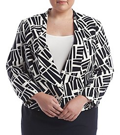 Nine West® Plus Size Printed Flyaway Jacket