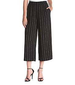 Kensie® Pinstripe Cropped Soft Pants