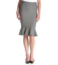 XOXO® Trumpet Jacquard Patterned Skirt