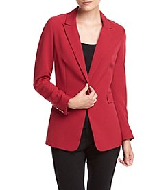 XOXO® Long Single Button Blazer