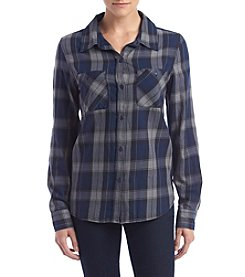 Hippie Laundry Plaid Top With Pockets