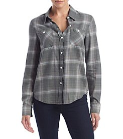 Hippie Laundry Faded Plaid Top