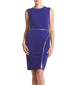 Calvin Klein Zipper Detail Sheath Dress
