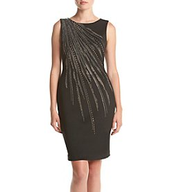 Calvin Klein Sequin Shoulder Detailed Dress