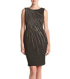 Calvin Klein Sequin Shoulder Detailed Dress