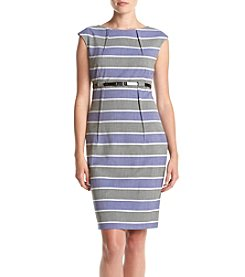 Calvin Klein Cap Sleeve Striped Dress