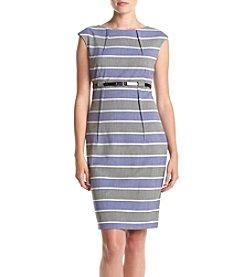Calvin Klein Cap Sleeve Striped Dress