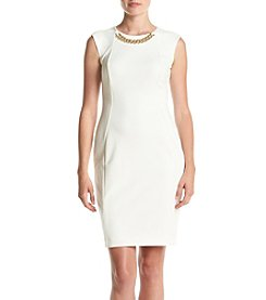 Calvin Klein Chain Necklace Sheath Dress