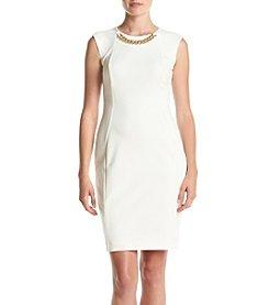 Calvin Klein Chain Necklace Sheath Dress