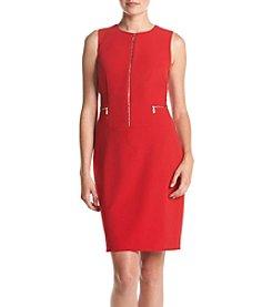 Calvin Klein Zipper Detail Sheath Dress