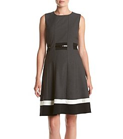Calvin Klein Sleeveless Belted Fit And Flare