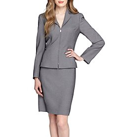Tahari ASL® Notch Collar Zip Skirt Suit