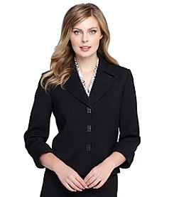 Tahari ASL® Notch Collar Turnlock Jacket