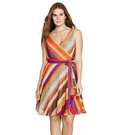 Lauren Ralph Lauren® Plus Size Stripe-Print Wrap Dress