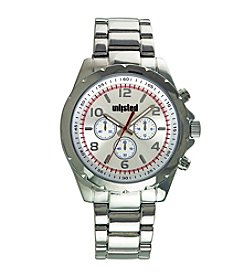 Unlisted by Kenneth Cole® Men's Silvertone Sport Watch