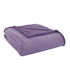 Shavel Home Products Micro Flannel® Reversible Sherpa Blanket