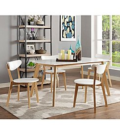 W. Designs 5-pc. Retro Modern Wood Dining Set