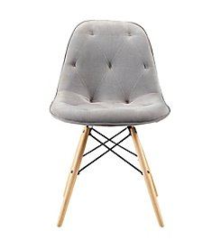 W. Designs Set of 2 Upholstered Eames Dining Chairs