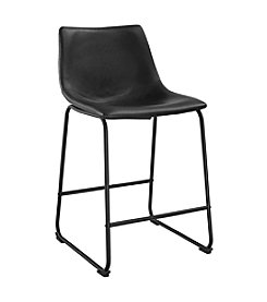 W. Designs Set of 2 Faux Leather Stools