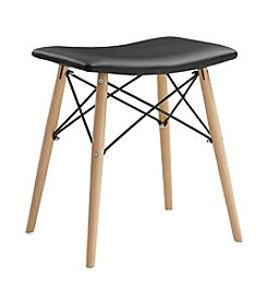 W. Designs Retro Modern Faux Leather Stool