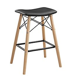 W. Designs Retro Modern Faux Leather Counter Stool