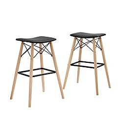 W. Designs Retro Modern Faux Leather Bar Stool
