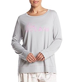 HUE® Plus Size Henley Pajama Top