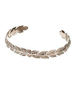 Vera Bradley® Silvertone Feathers Cuff Bracelet
