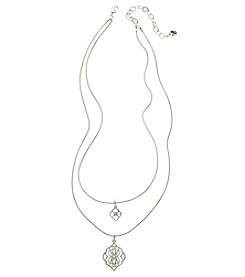 Vera Bradley® Silvertone Signature Short Necklace
