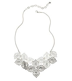 Vera Bradley® Silvertone Signature Bib Necklace