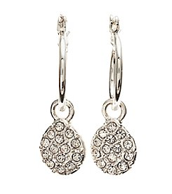 Vera Bradley® Silvertone Pave Drop Earrings