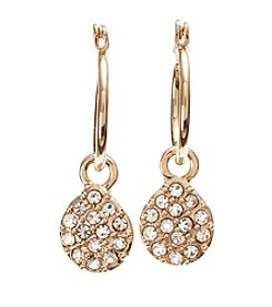 Vera Bradley® Goldtone Pave Drop Earrings
