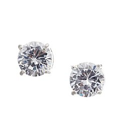Vera Bradley® Silvertone Clear Cubic Zirconia Stud Earrings