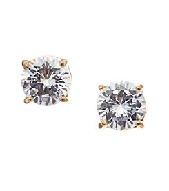 Vera Bradley® Goldtone Clear Cubic Zirconia Stud Earrings