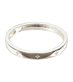 Vera Bradley® Silvertone Simple Skinny Bangle Bracelet
