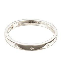 Vera Bradley® Silvertone Simple Skinny Bangle Bracelet