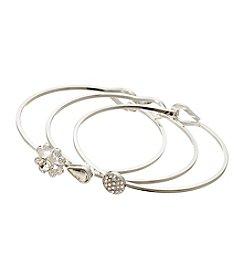 Vera Bradley® Silvertone Stackable Bracelet Trio