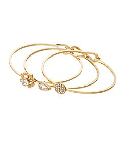 Vera Bradley® Goldtone Stackable Bracelet Trio