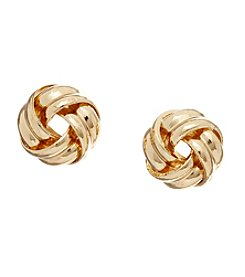 Vera Bradley® Goldtone Knot Stud Earrings