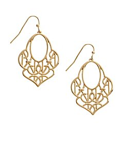 Vera Bradley® Goldtone Signature Drop Earrings
