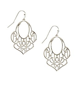 Vera Bradley® Silvertone Signature Drop Earrings