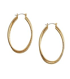 Vera Bradley® Goldtone Mod Elegance Coil Earrings